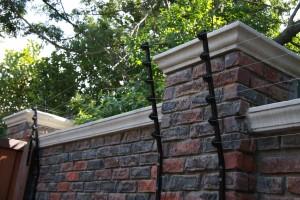 Square tubing walltop
