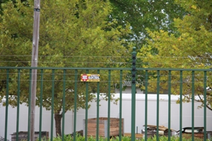 Palasade Fence with the piggy backed electric fencing!